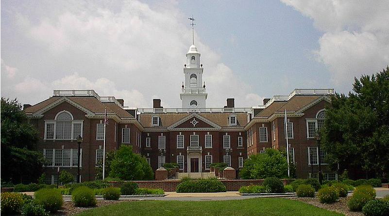capitol building of low-tax, mid-shore Delaware